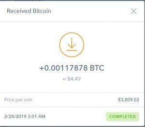 JillsClickCorner 13th payment (my first Bitcoin payment)