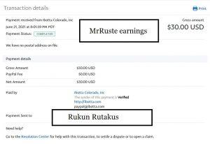 rukun's second payment Ibotta